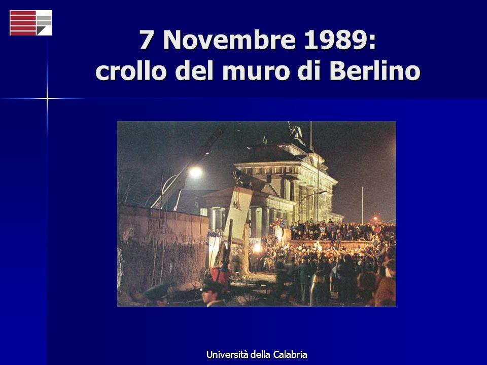 7 Novembre 1989: crollo del muro di Berlino