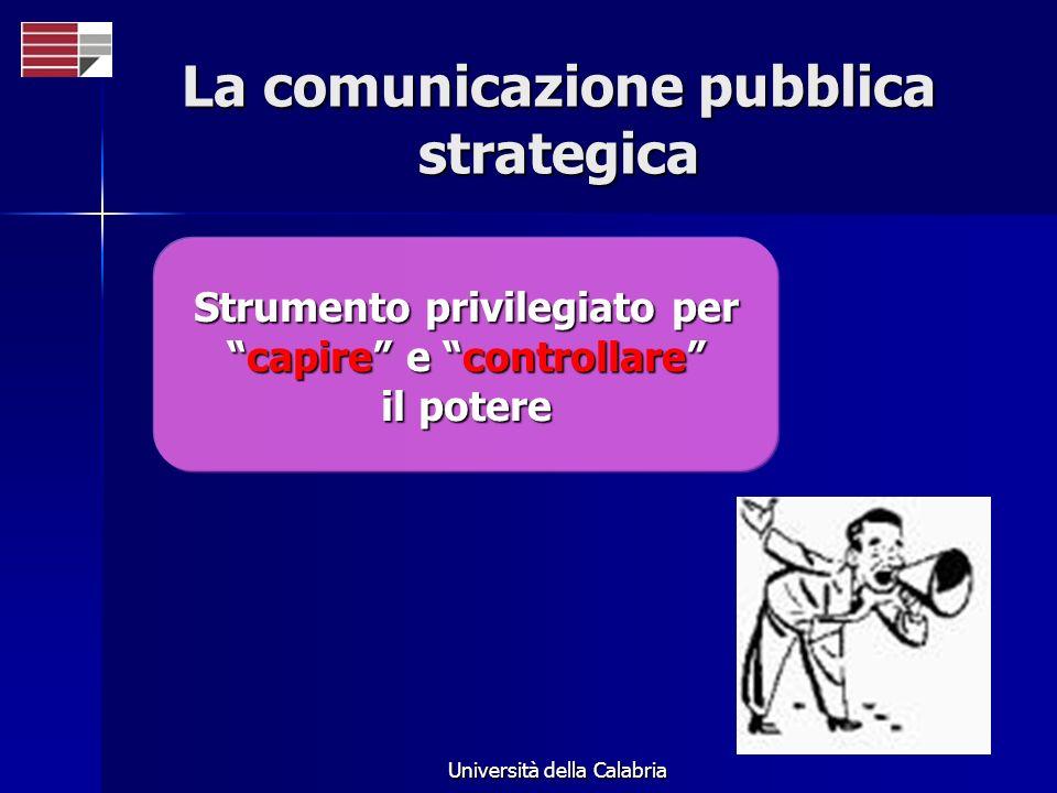 La comunicazione pubblica strategica