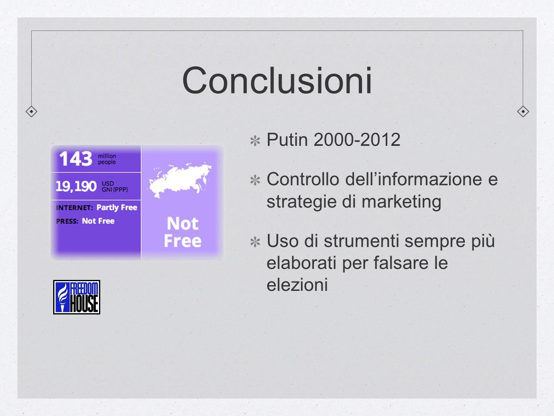 Conclusioni Putin 2000-2012. Controllo dell'informazione e strategie di marketing.