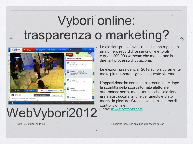 Vybori online: trasparenza o marketing
