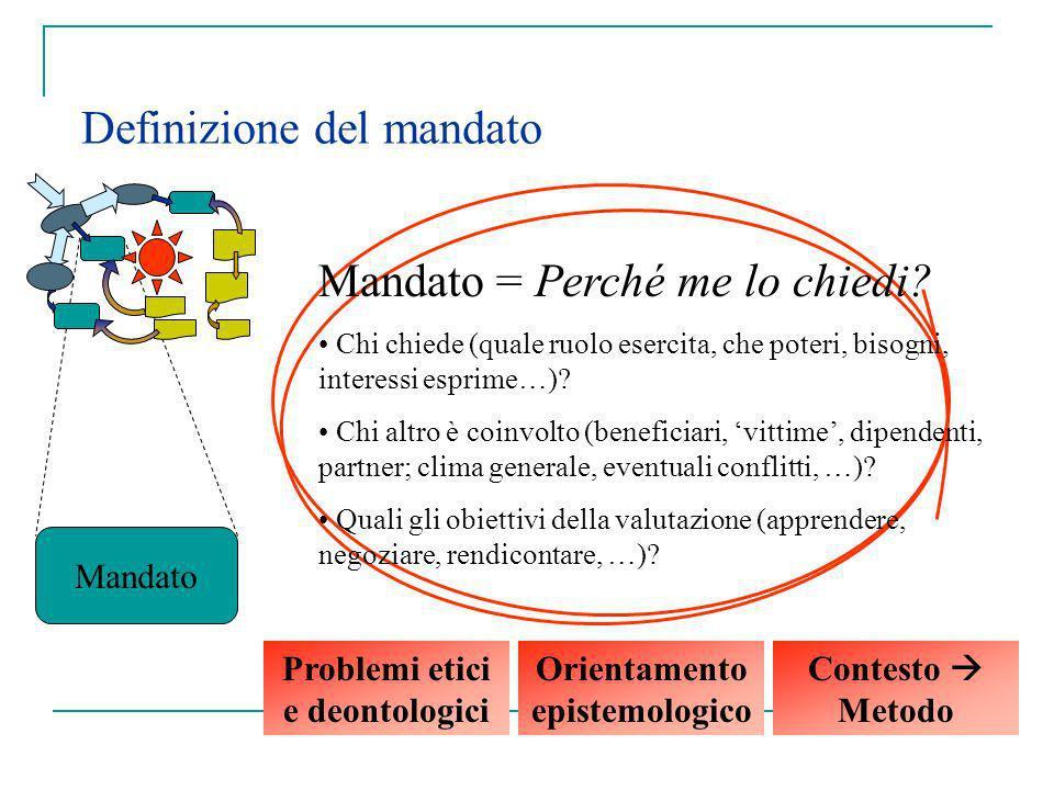 Problemi etici e deontologici Orientamento epistemologico