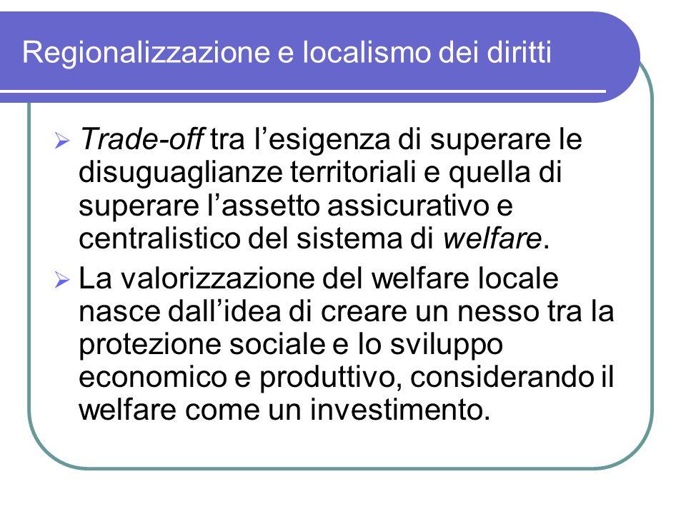 Regionalizzazione e localismo dei diritti