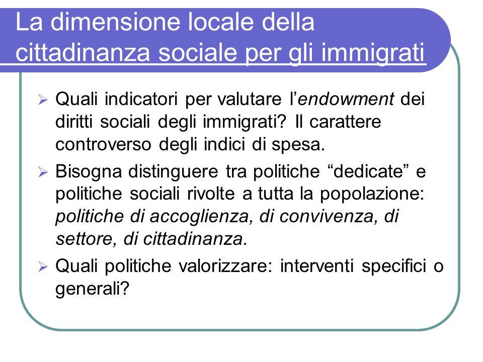 La dimensione locale della cittadinanza sociale per gli immigrati