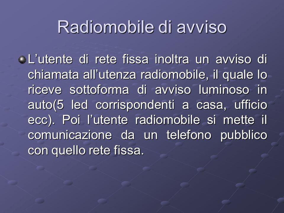 Radiomobile di avviso