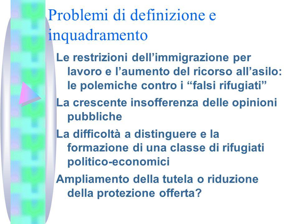 Problemi di definizione e inquadramento