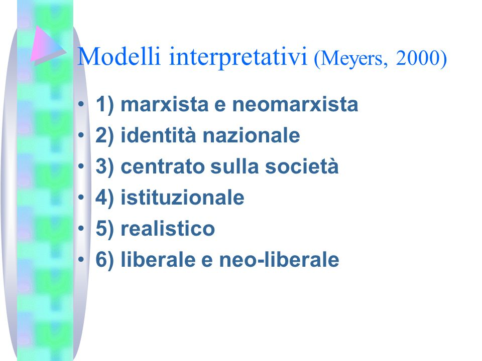 Modelli interpretativi (Meyers, 2000)