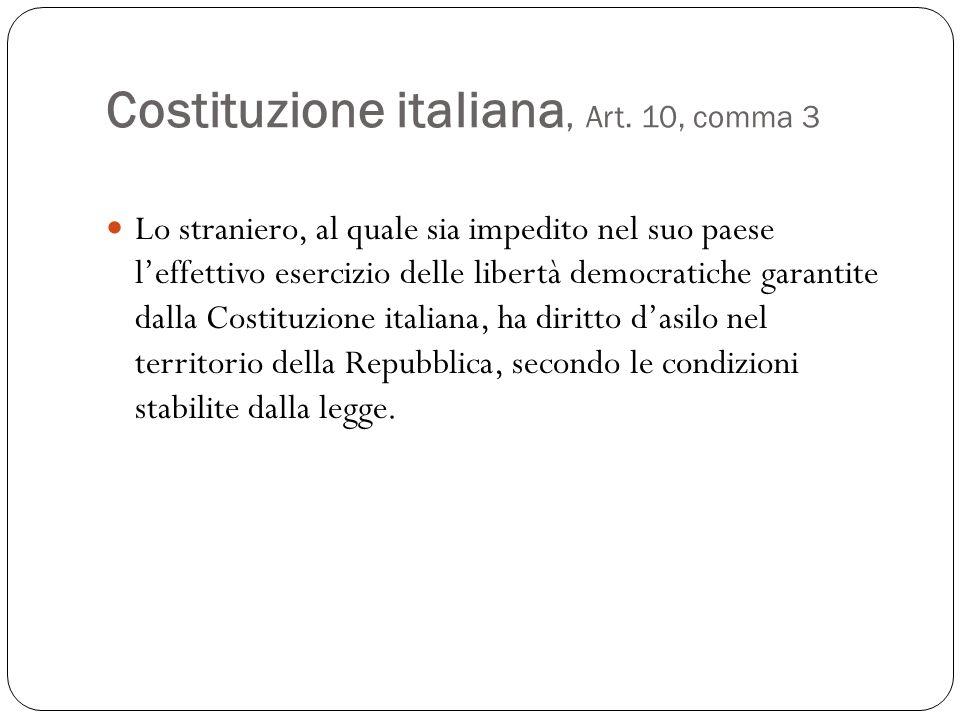 Costituzione italiana, Art. 10, comma 3