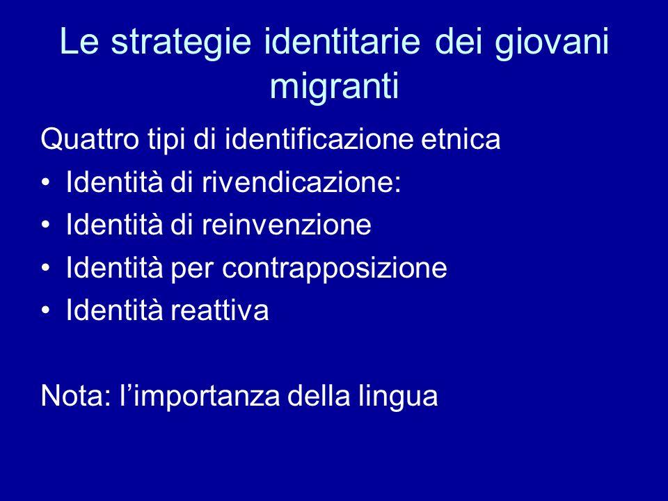 Le strategie identitarie dei giovani migranti