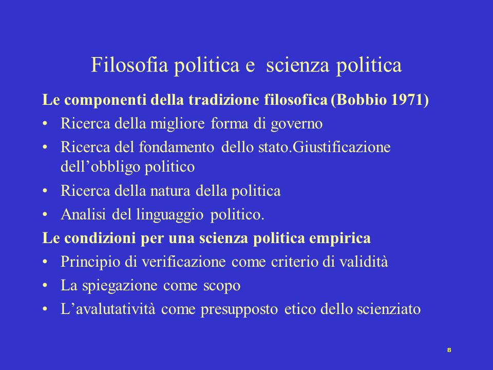 Filosofia politica e scienza politica