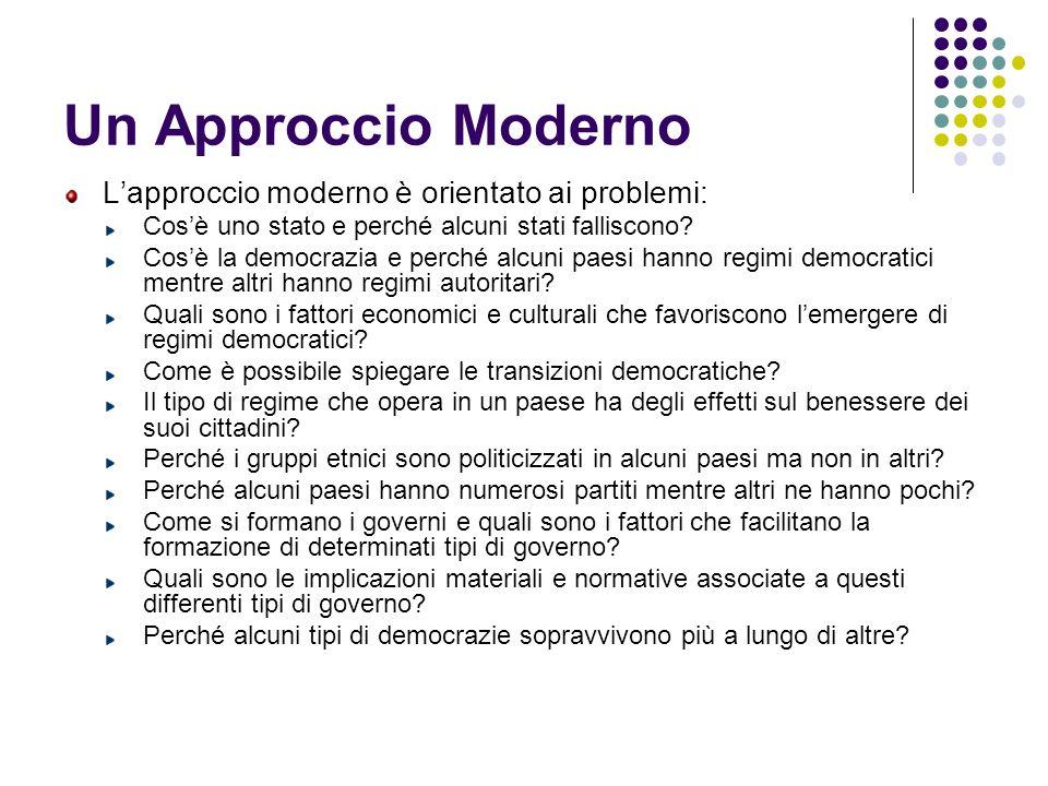 Un Approccio Moderno L'approccio moderno è orientato ai problemi: