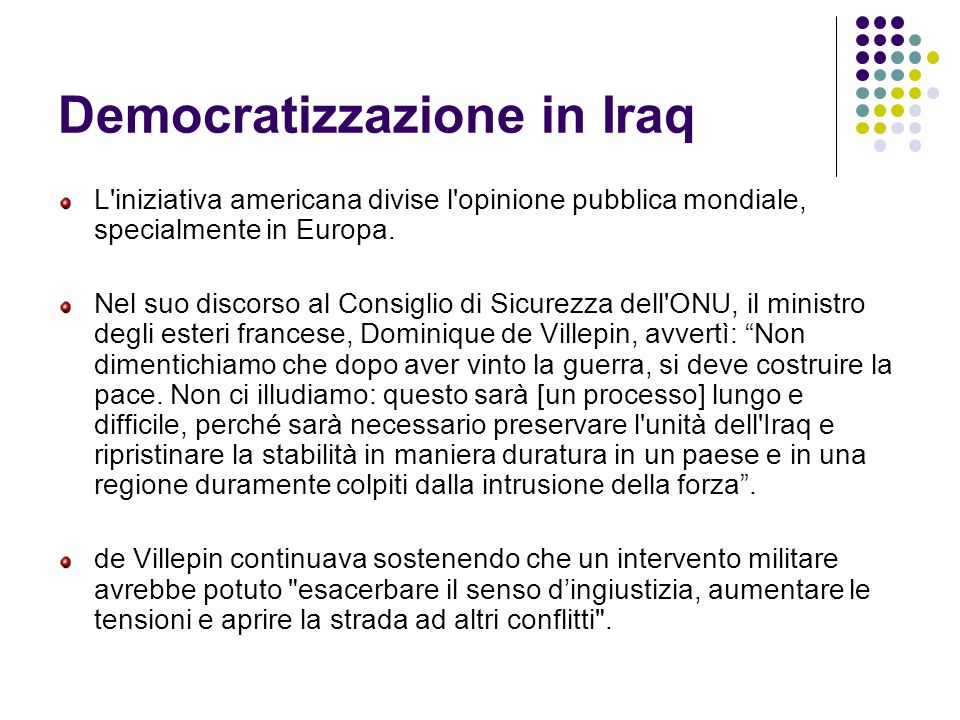 Democratizzazione in Iraq