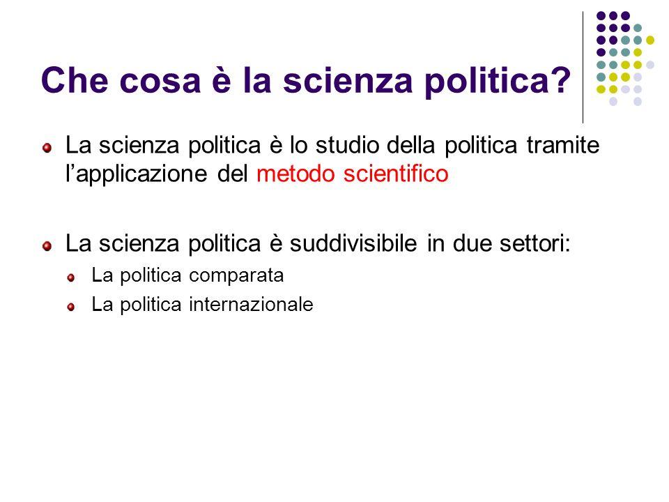 Che cosa è la scienza politica