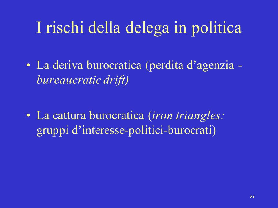 I rischi della delega in politica