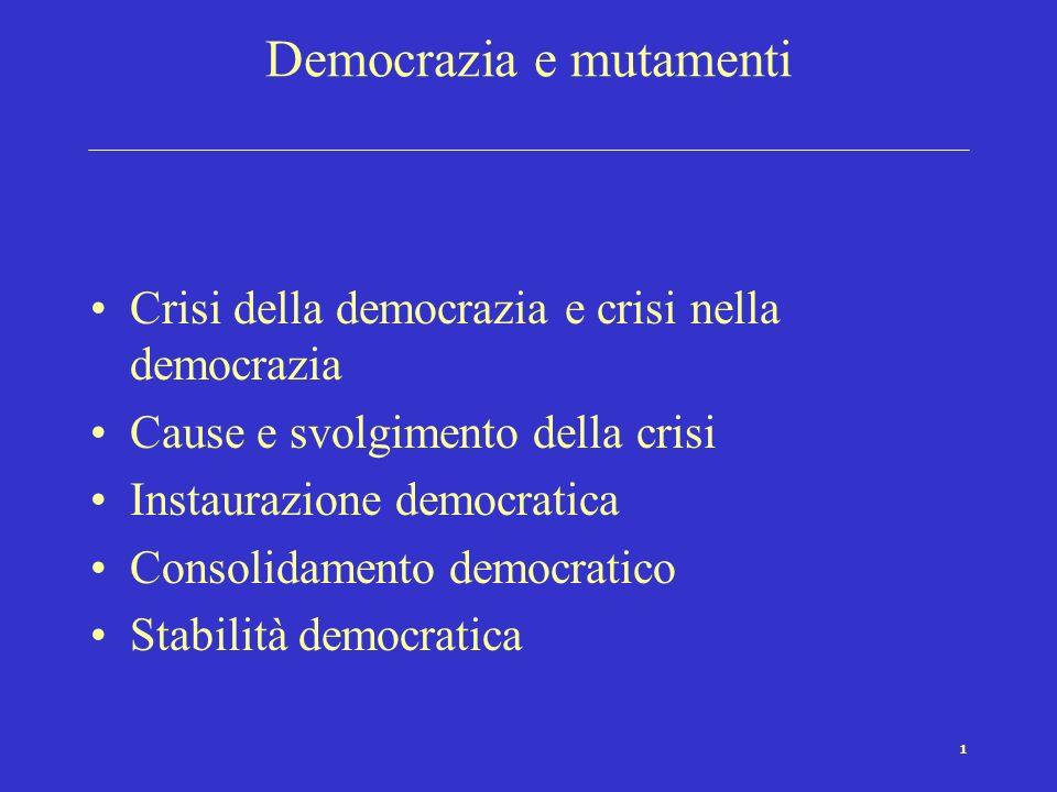 Democrazia e mutamenti