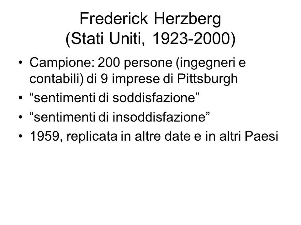 Frederick Herzberg (Stati Uniti, 1923-2000)