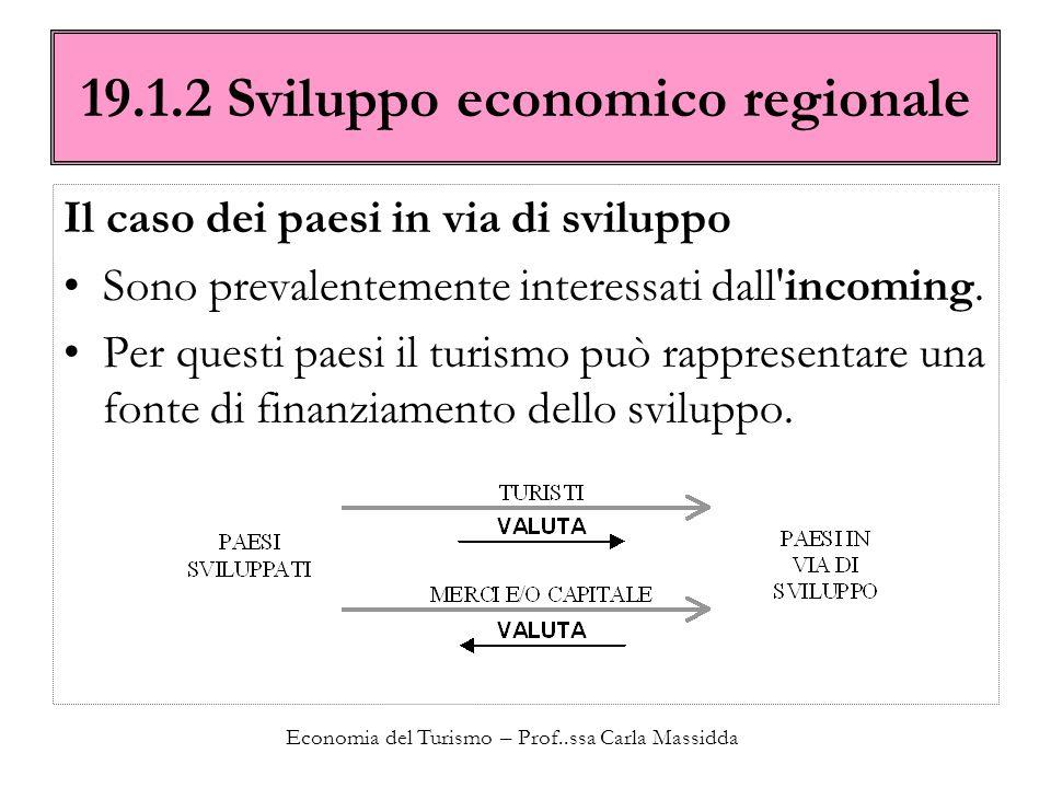 19.1.2 Sviluppo economico regionale