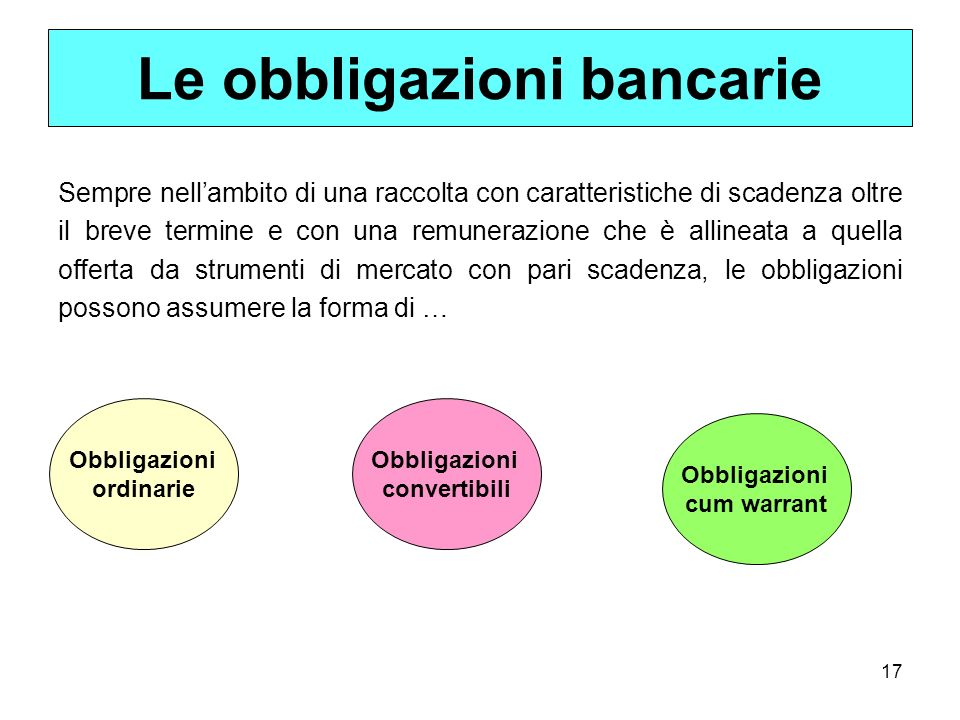 Le obbligazioni bancarie