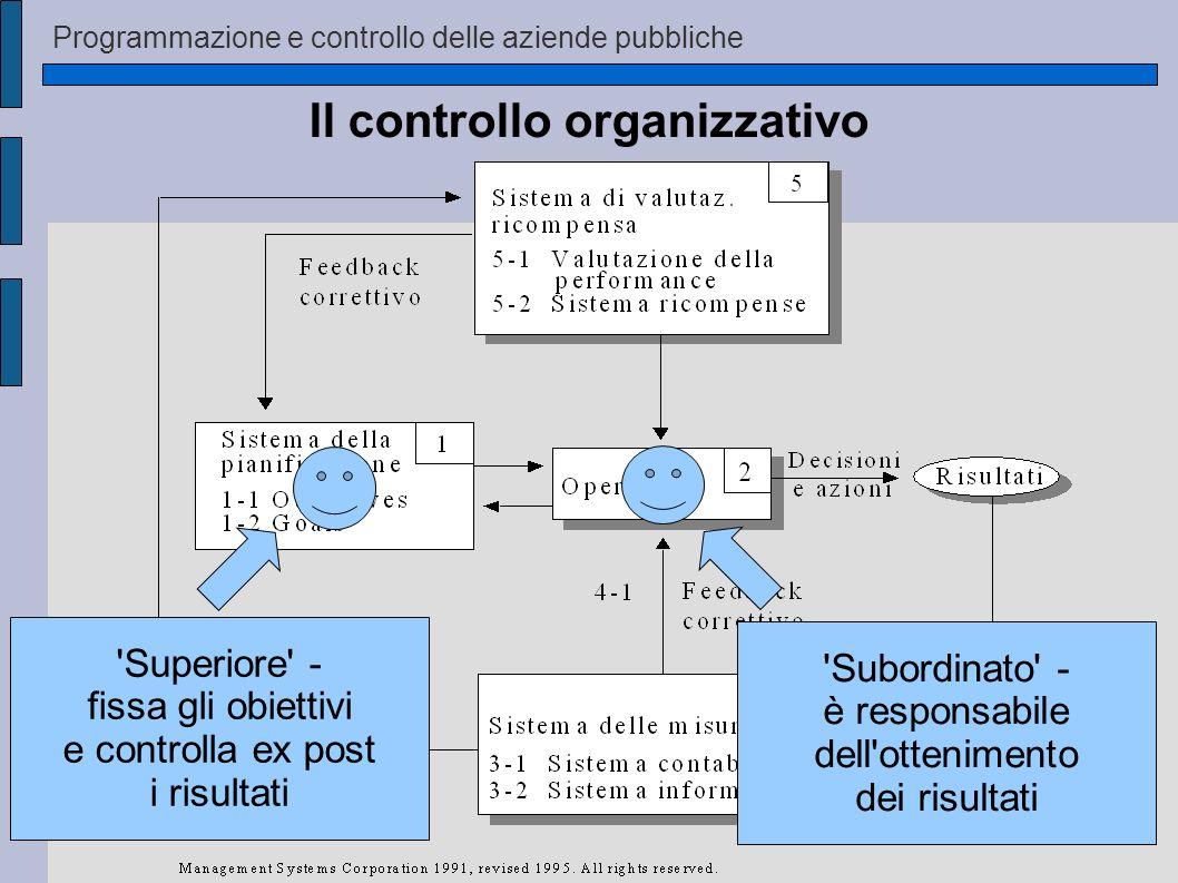 Il controllo organizzativo