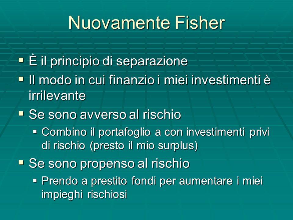 Nuovamente Fisher È il principio di separazione