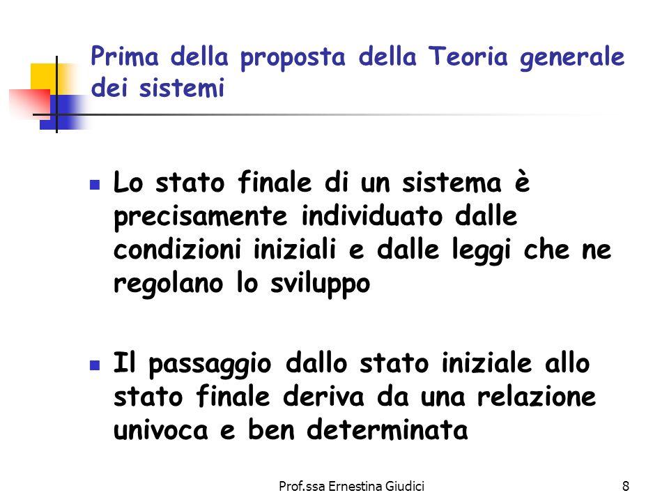 Prima della proposta della Teoria generale dei sistemi