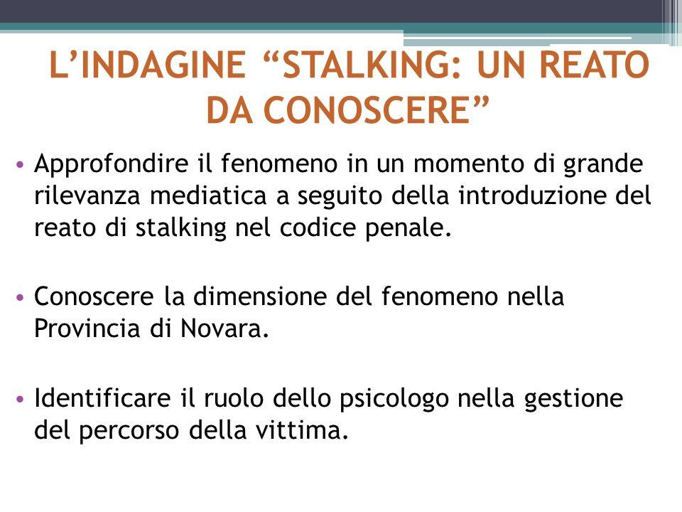 L'INDAGINE STALKING: UN REATO DA CONOSCERE