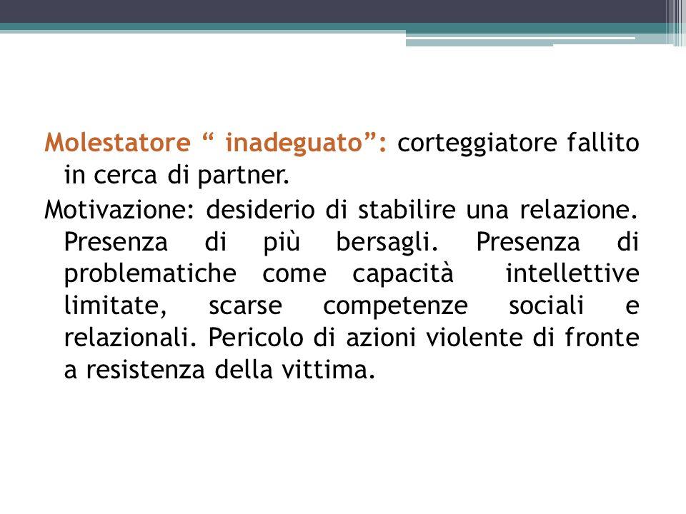 Molestatore inadeguato : corteggiatore fallito in cerca di partner.