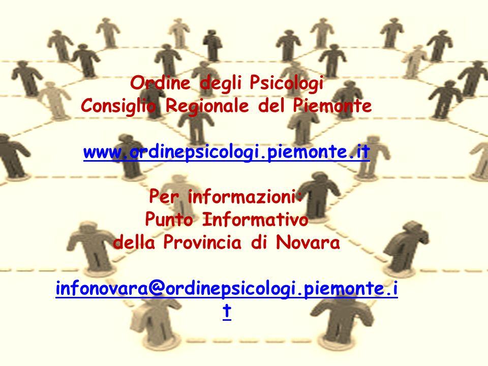 Ordine degli Psicologi Consiglio Regionale del Piemonte