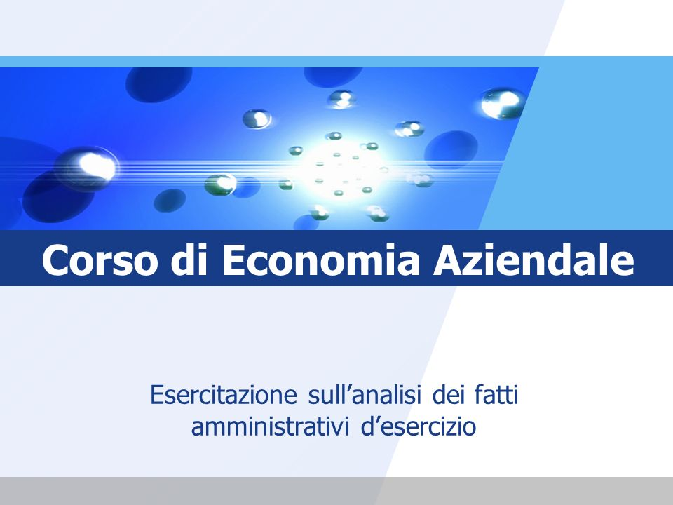 Corso di Economia Aziendale