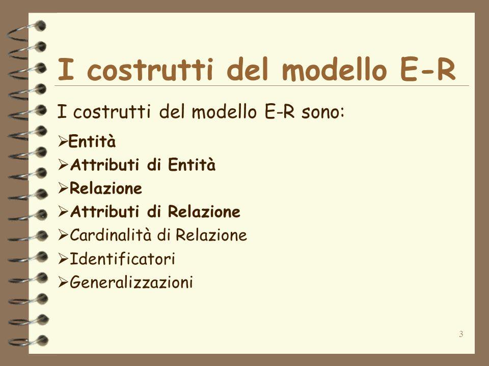 I costrutti del modello E-R
