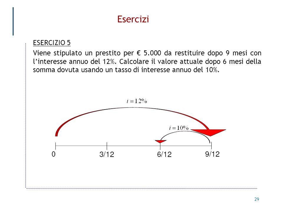 Esercizi ESERCIZIO 5.
