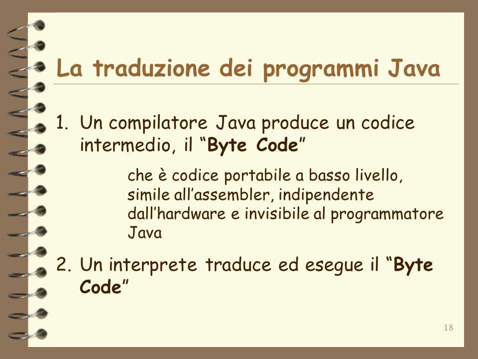 La traduzione dei programmi Java