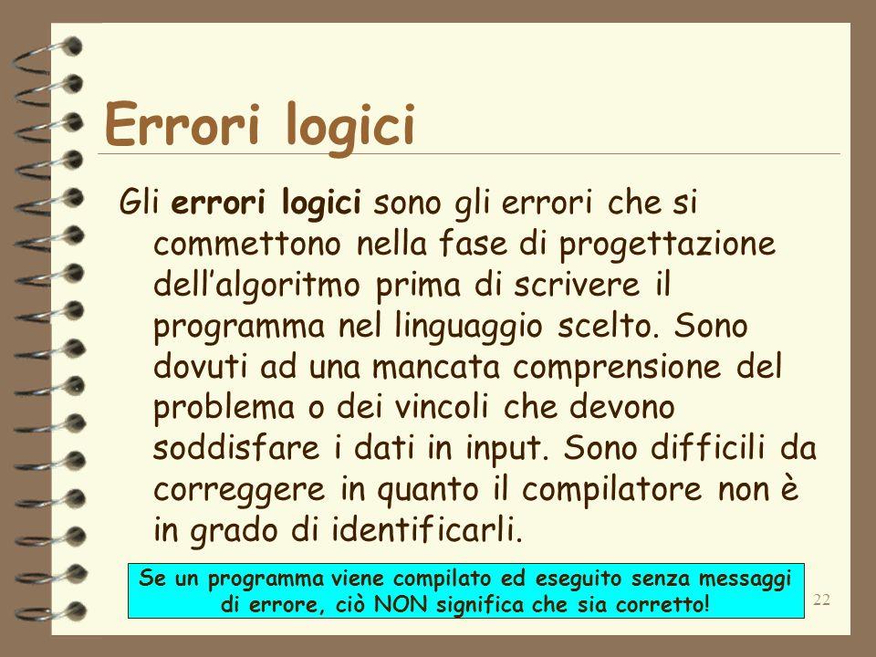 Errori logici