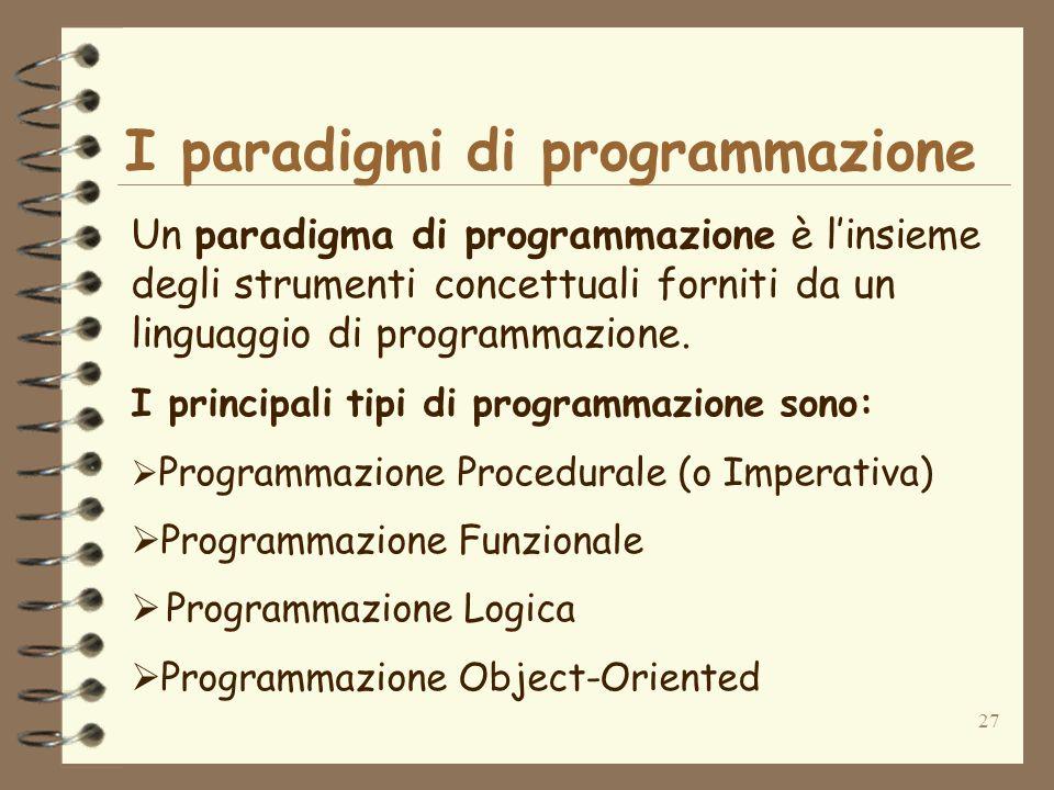 I paradigmi di programmazione
