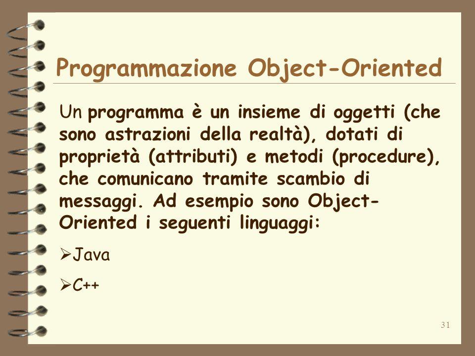 Programmazione Object-Oriented