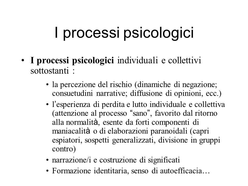 I processi psicologici