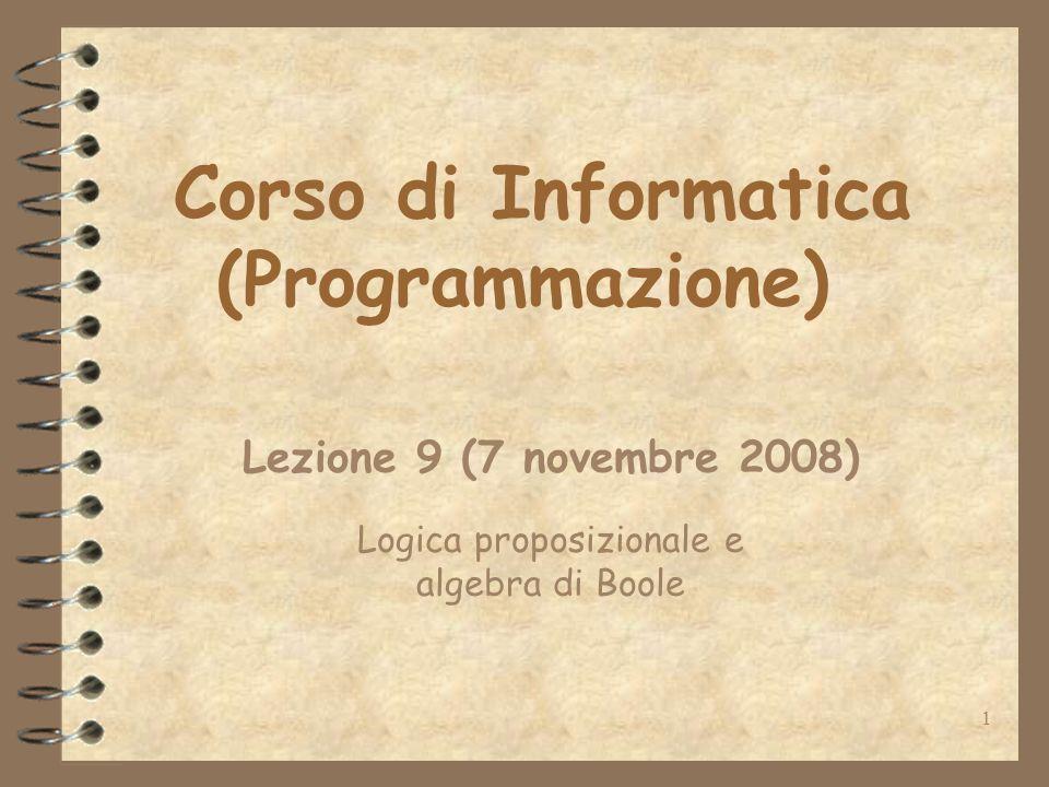Corso di Informatica (Programmazione)