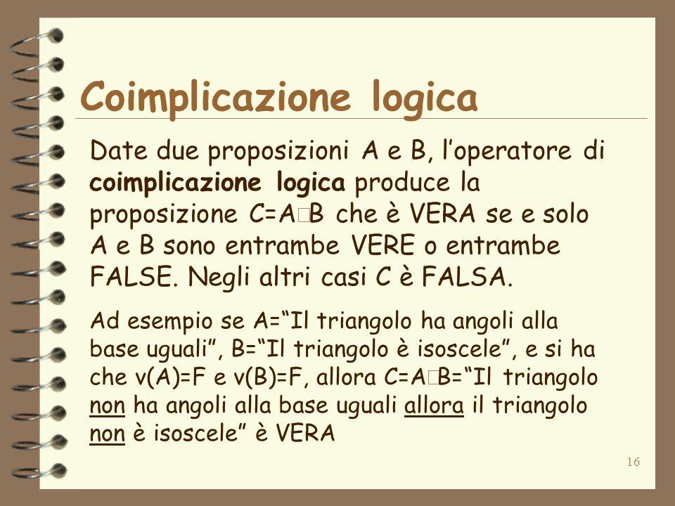 Coimplicazione logica