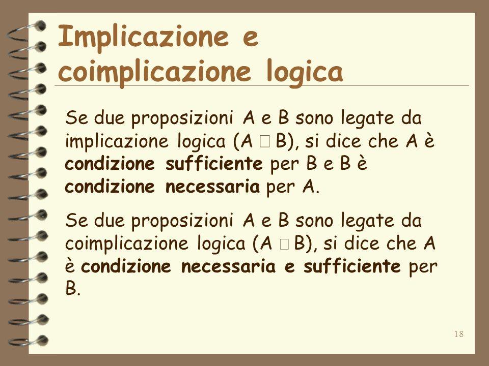 Implicazione e coimplicazione logica