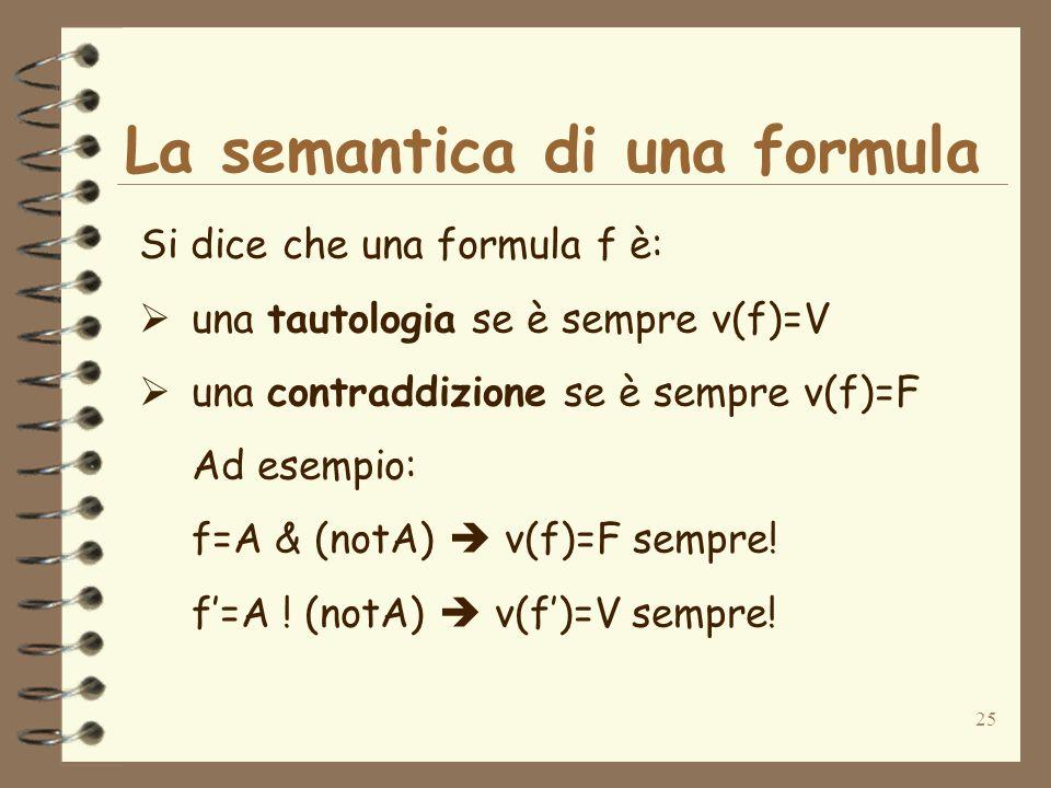 La semantica di una formula
