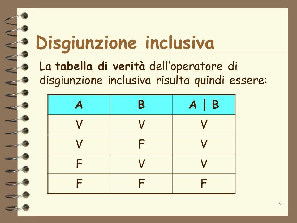 Disgiunzione inclusiva