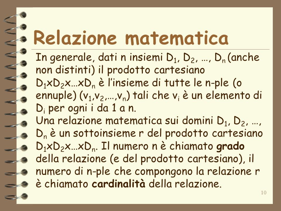 Relazione matematica