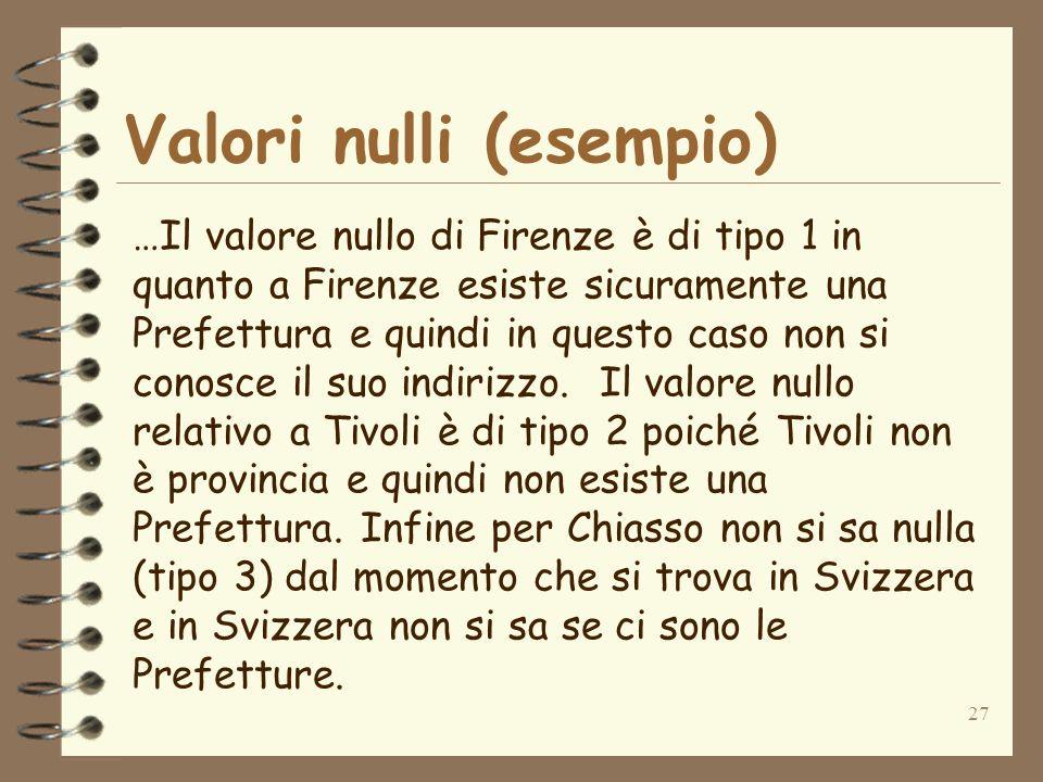 Valori nulli (esempio)