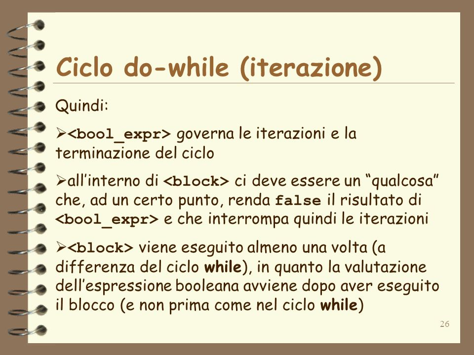 Ciclo do-while (iterazione)