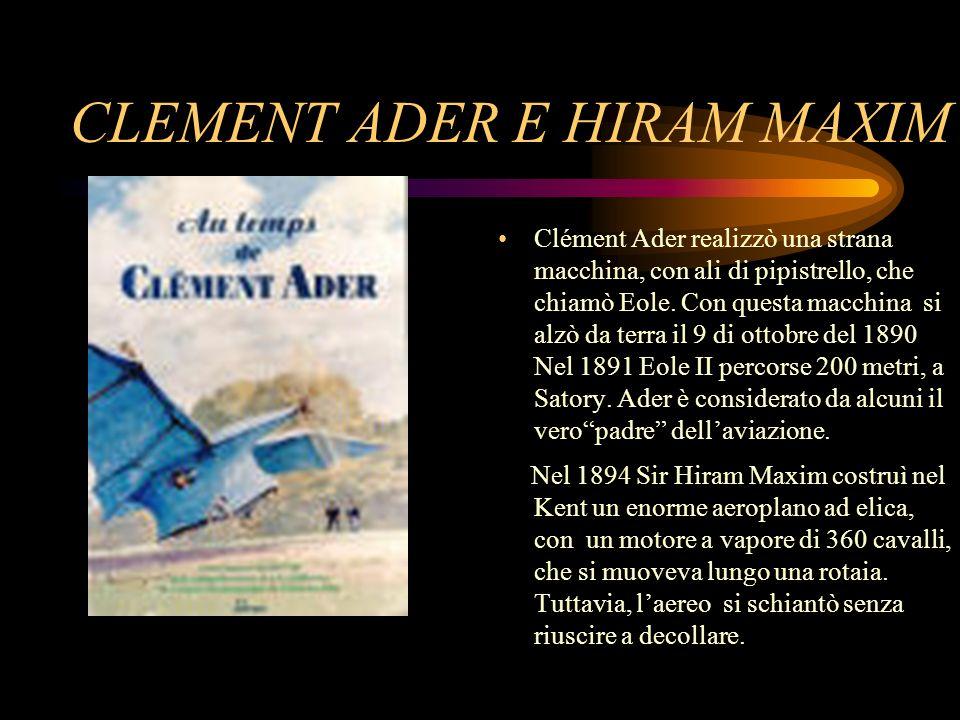 CLEMENT ADER E HIRAM MAXIM