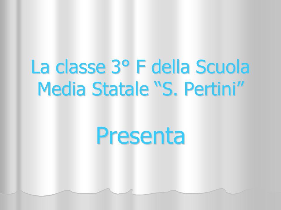 La classe 3° F della Scuola Media Statale S. Pertini