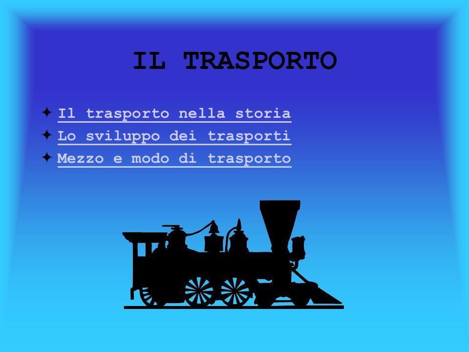 IL TRASPORTO Il trasporto nella storia Lo sviluppo dei trasporti