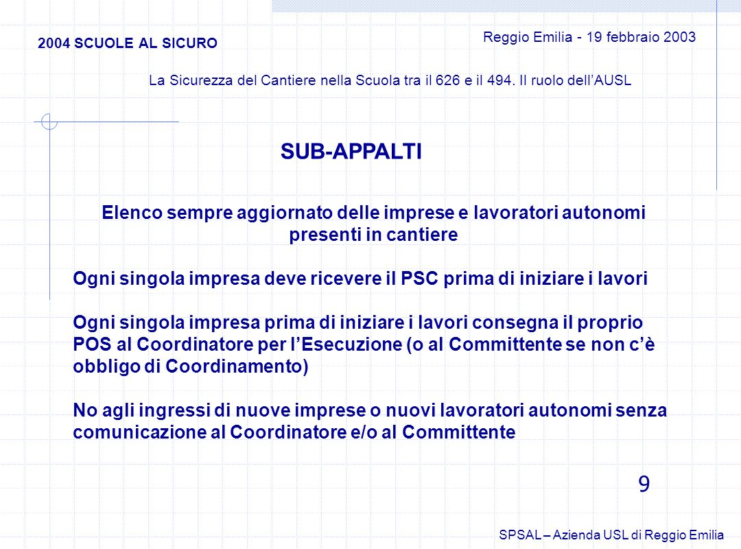 Reggio Emilia - 19 febbraio 2003