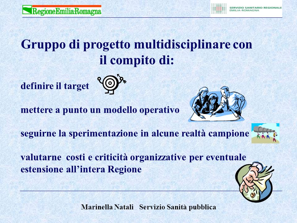 Gruppo di progetto multidisciplinare con il compito di: