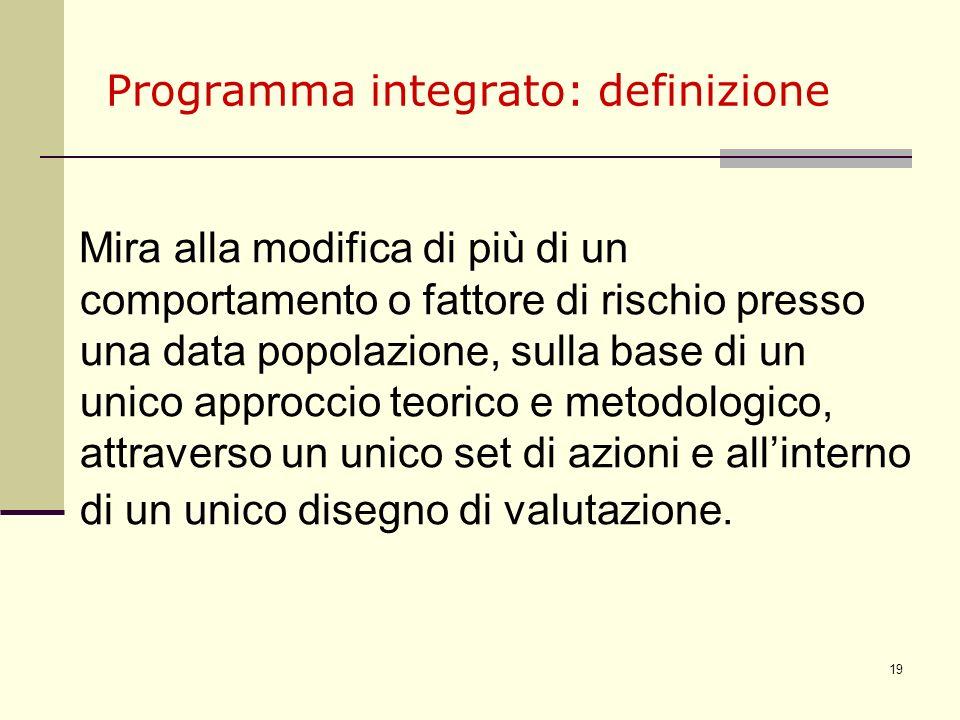 Programma integrato: definizione