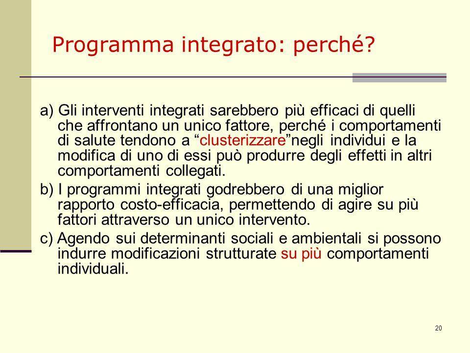 Programma integrato: perché